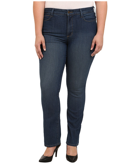 NYDJ Plus Size - Plus Size Marilyn Straight in Wilmington (Wilmington) Women's Jeans