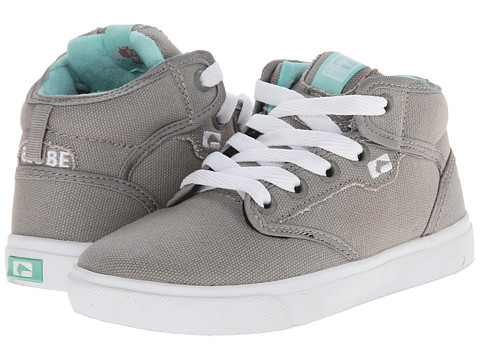 Globe Kids - Motley Mid (Little Kid/Big Kid) (Grey/Aruba) Boys Shoes