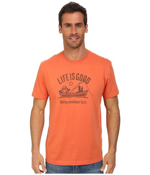 Life is good - Go Nowhere Fish Crusher Tee (Spicy Orange) Men