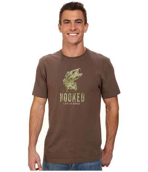 Life is good - Camo Hooked Crusher Tee (Dark Brown) Men