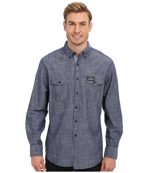 U.S. POLO ASSN. - Solid Canvas Sport Shirt (Infinity Blue) Men's Long Sleeve Button Up