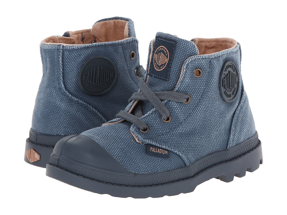 Palladium Kids - Pampa Hi Zipper (Toddler) (Orion Blue/Salmon Pink) Kids Shoes