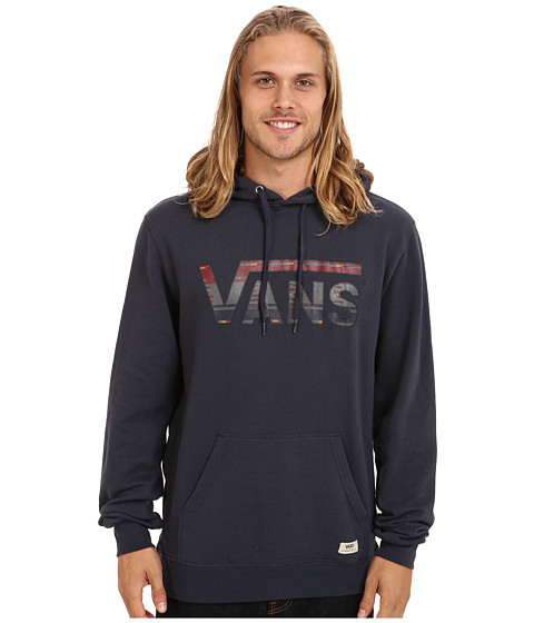 Vans - Drop V Native Stripe Pullover Fleece (Navy/Native Stripe) Men
