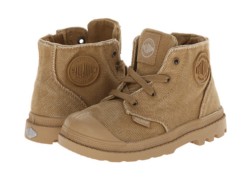 Palladium Kids - Pampa Hi Zipper (Toddler) (Woodlin/Honey Mustard) Boys Shoes