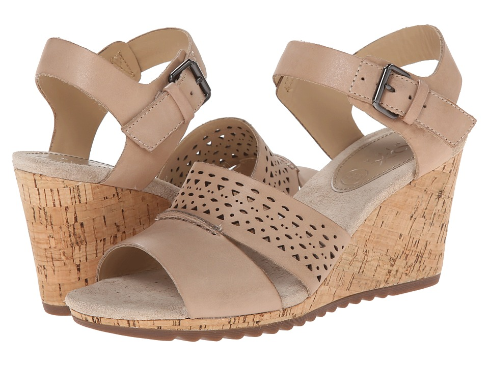 Geox - ALIAS 5 (Light Taupe) Women's Wedge Shoes