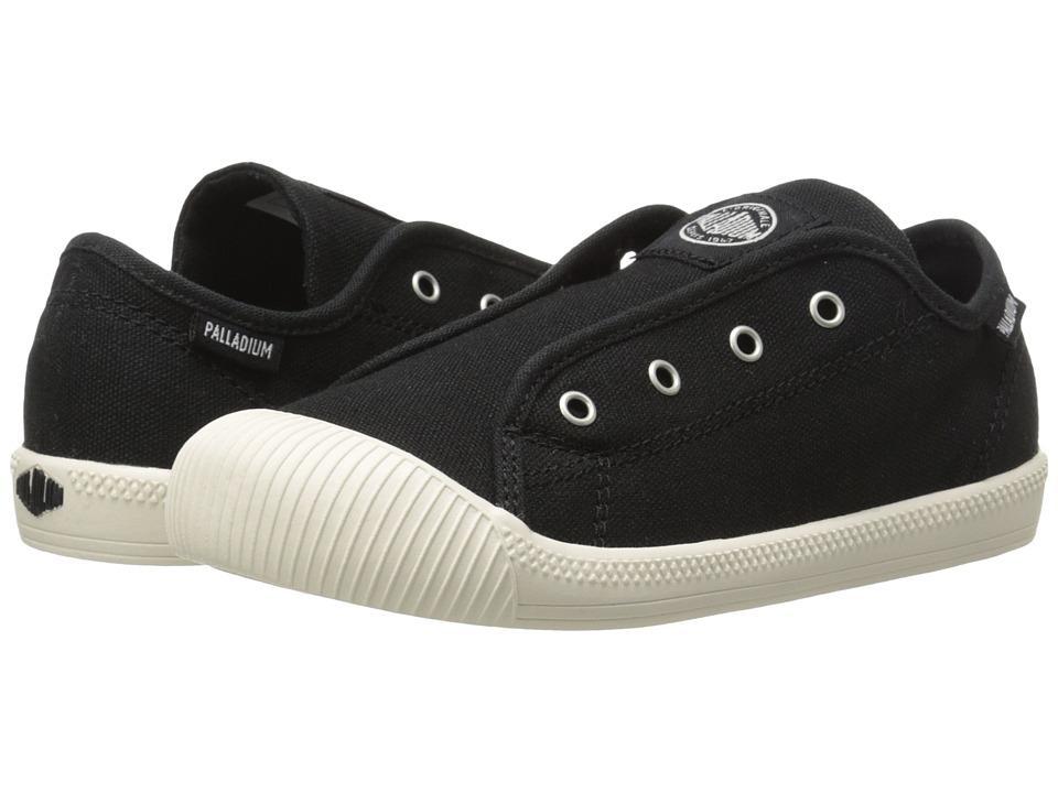 Palladium Kids - Flex Slip-On TO (Toddler) (Black/Marshmallow) Kids Shoes