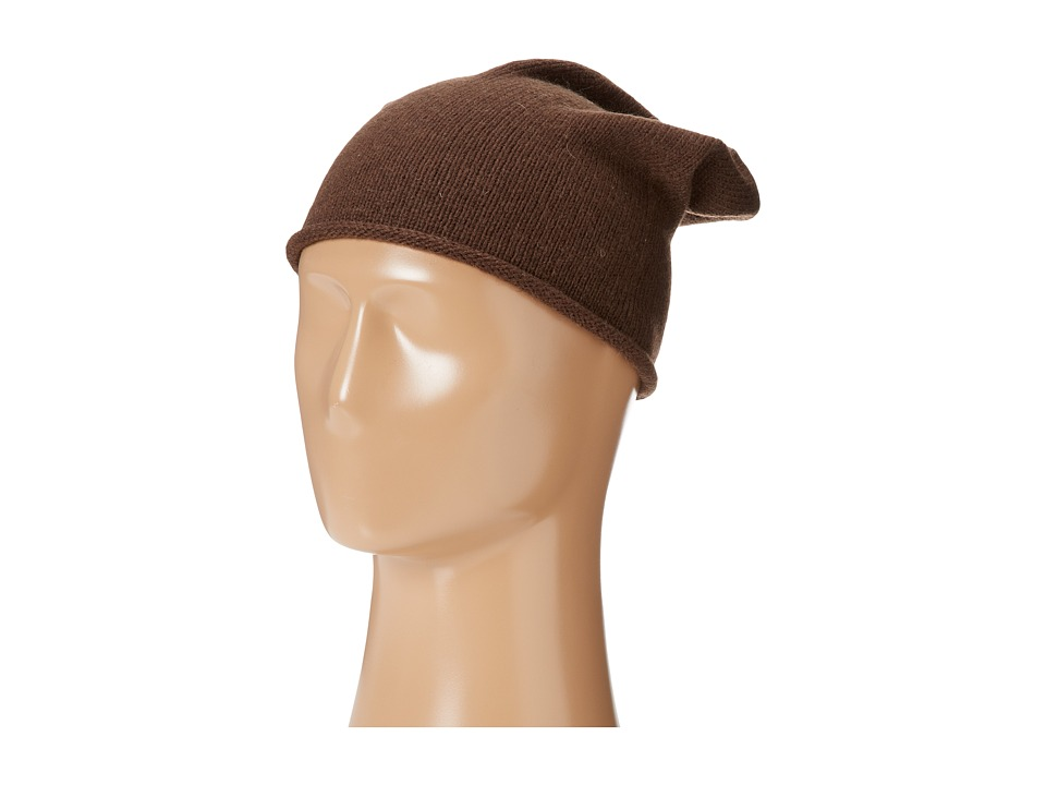 Hat Attack - Cashmere Slouchy (Chocolate) Beanies