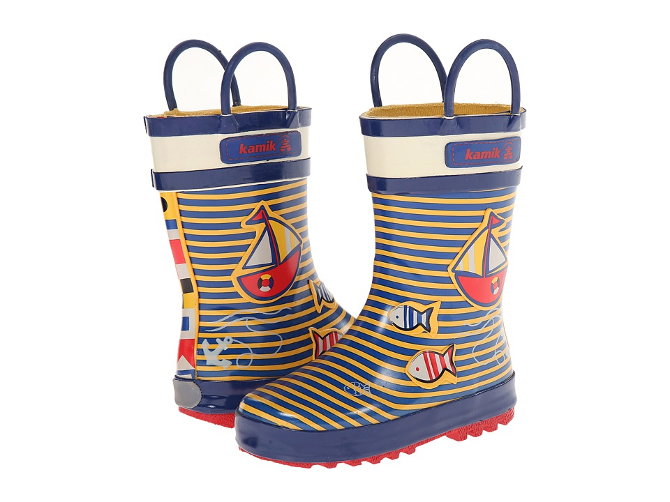 Kamik Kids - Ahoy (Toddler/Little Kid) (Yellow) Boys Shoes
