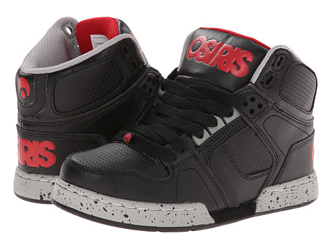 Osiris Kids - NYC 83 (Little Kid/Big Kid) (Black/Red/Grey) Boys Shoes
