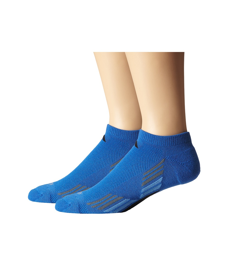 adidas - Climacool X II 2-Pair No Show Sock (Bright Royal/Black/Lucky Blue/Vista Grey) Men's No Show Socks Shoes