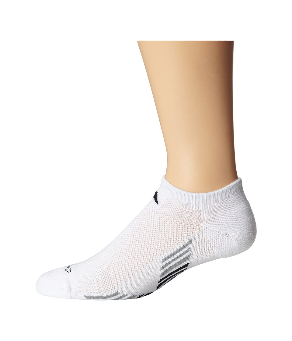 adidas - Climacool X II 2-Pair No Show Sock (White/Black/Aluminum 2/Dark Onix) Men's No Show Socks Shoes