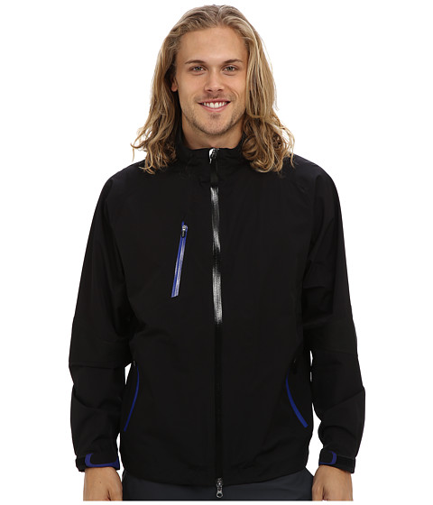 Zero Restriction - Pinnacle Rain Jacket (Black/Bright Royal) Men