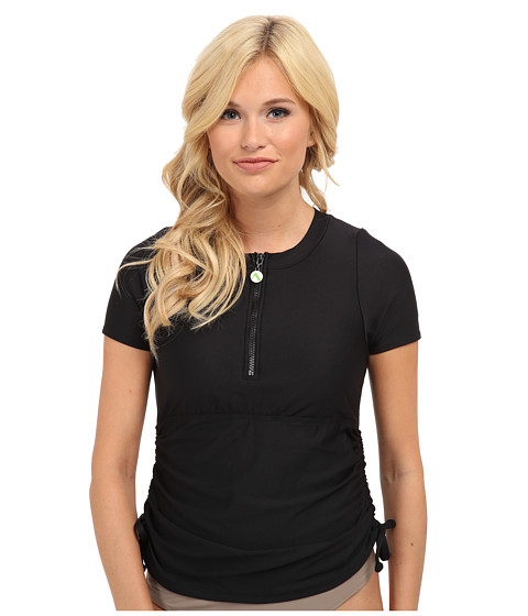 Next by Athena - Good Karma Surf Shirt (Black) Women's Swimwear