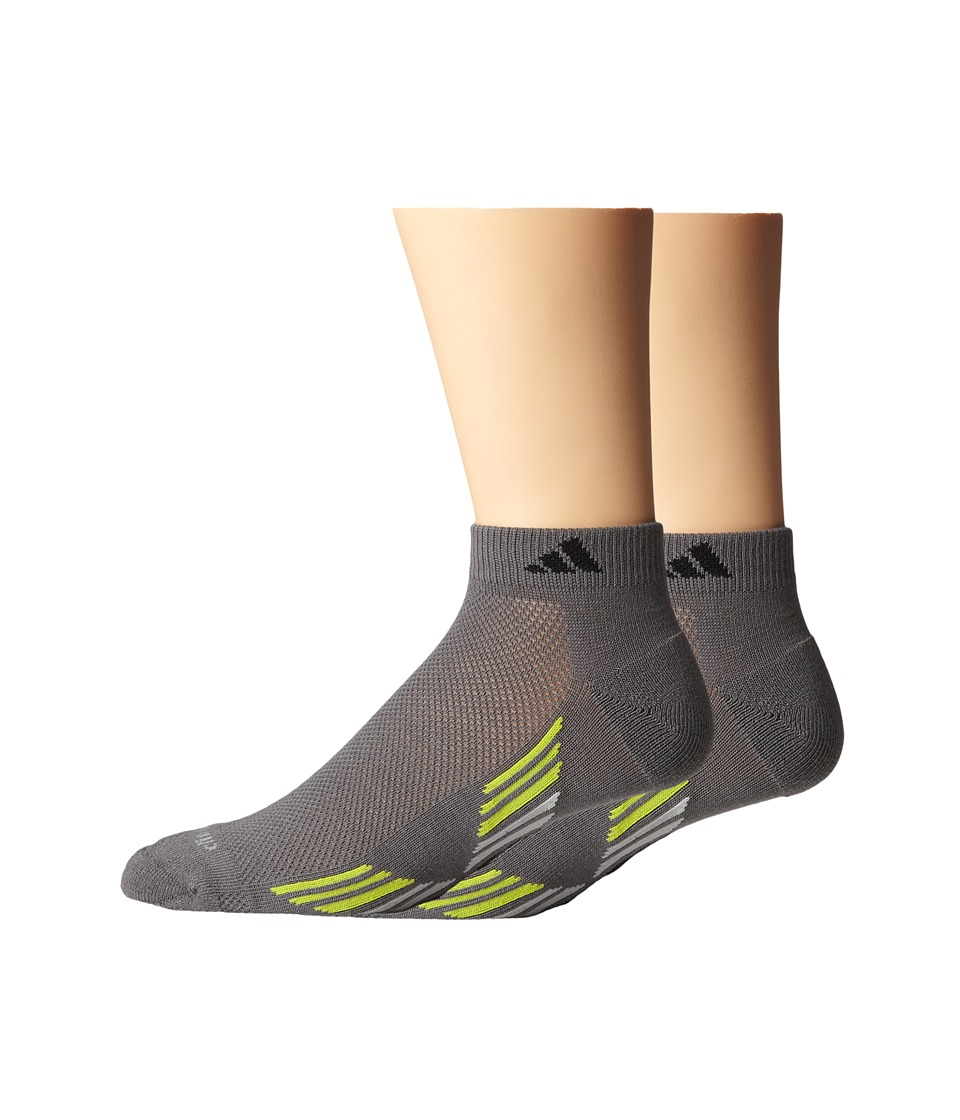 adidas - Climacool X II 2-Pair Low Cut Sock (Vista Grey/Black/Clear Onix/Semi Solar Yellow) Men's Low Cut Socks Shoes