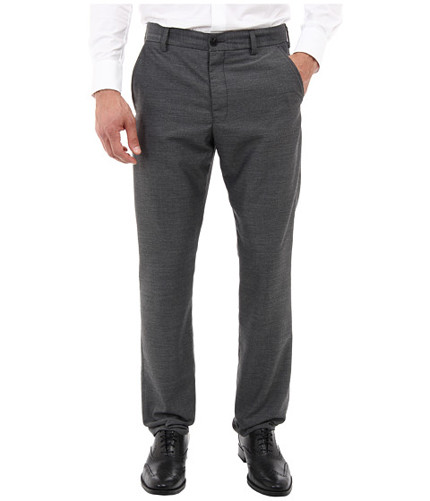 French Connection - Work Pindot Pant (Charcoal Melange) Men's Dress Pants