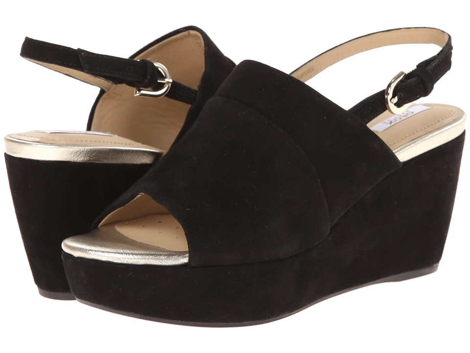 Geox - D Thelma (Black) Women's Wedge Shoes