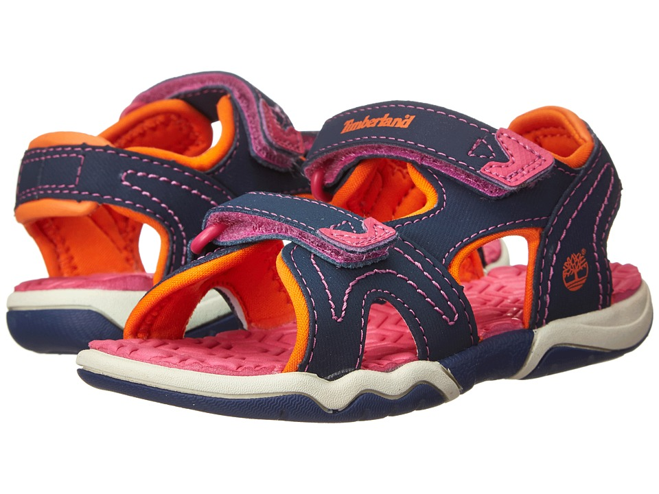 Timberland Kids - Adventure Seeker 2-Strap Sandal (Toddler/Little Kid) (Navy/Pink/Orange) Girls Shoes