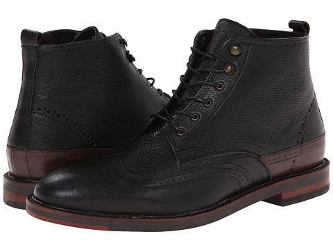 H by Hudson - Harland (Black) Men's Lace-up Boots