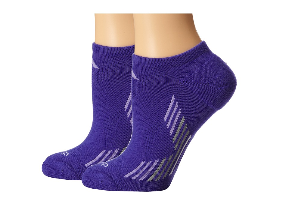 adidas - Climacool X 2-Pair No Show Sock (Night Flash/Light Flash Purple/Light Onix/White) Women's No Show Socks Shoes