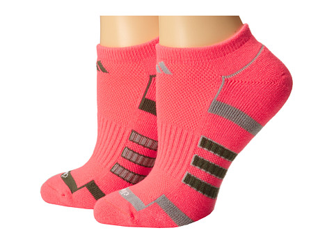 adidas - Climalite II 2-Pair No Show Sock (Flash Red/Base Green/Mid Grey) Women's No Show Socks Shoes