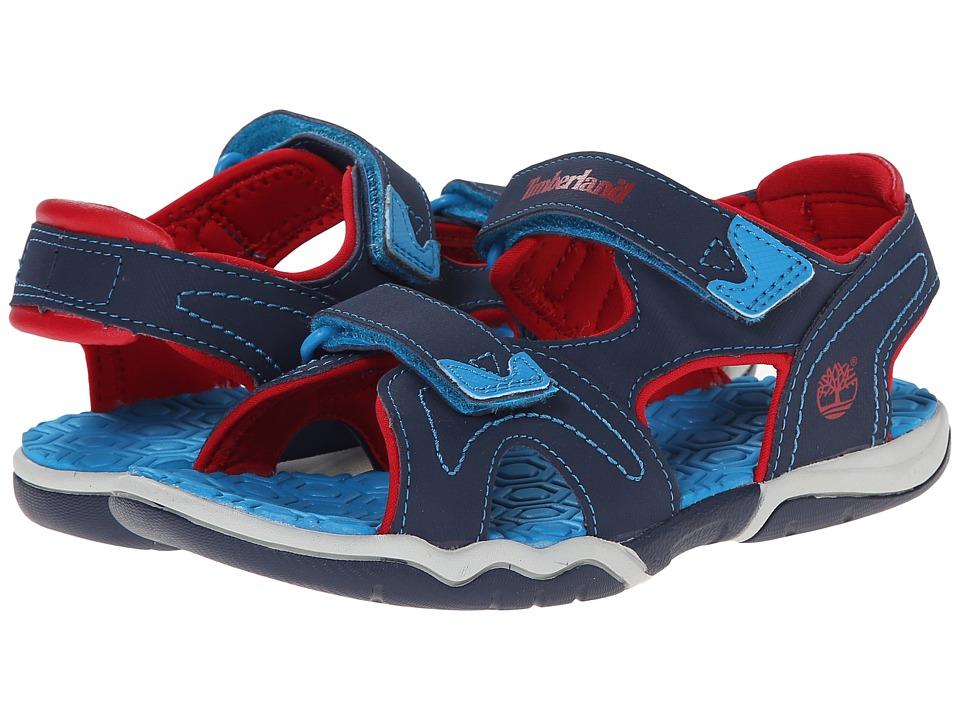 Timberland Kids - Adventure Seeker 2-Strap Sandal (Little Kid) (Navy/Blue/Red) Kids Shoes