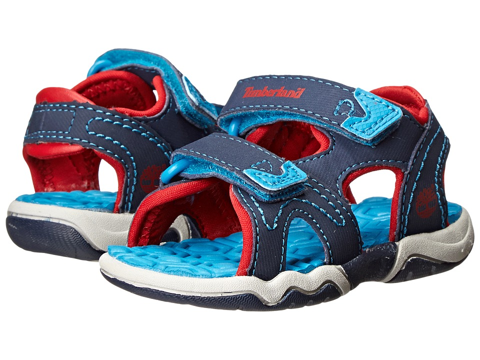 Timberland Kids - Adventure Seeker 2-Strap Sandal (Toddler/Little Kid) (Navy/Blue/Red) Kids Shoes