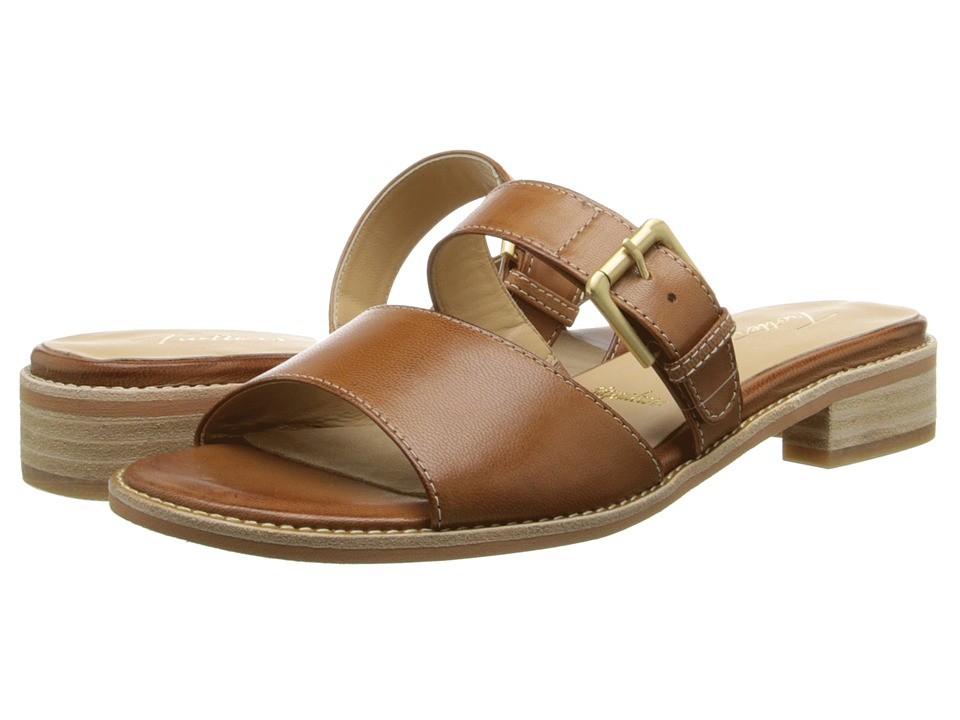 Trotters - Billie (Luggage Maple Veg Leather) Women's Sandals