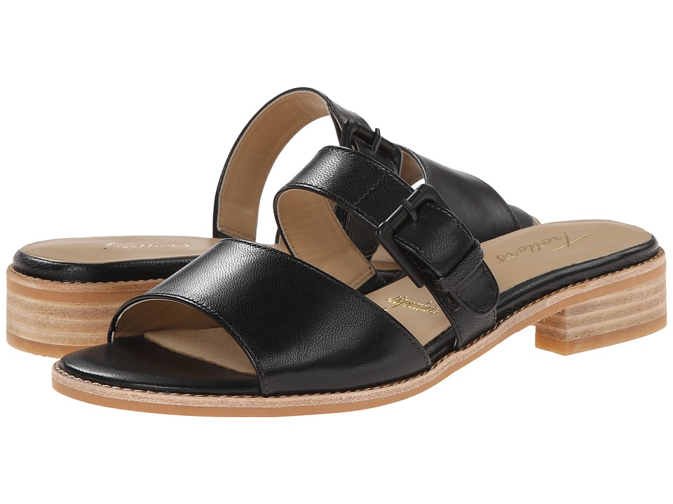 Trotters - Billie (Black/Natural Maple Veg Leather) Women's Sandals