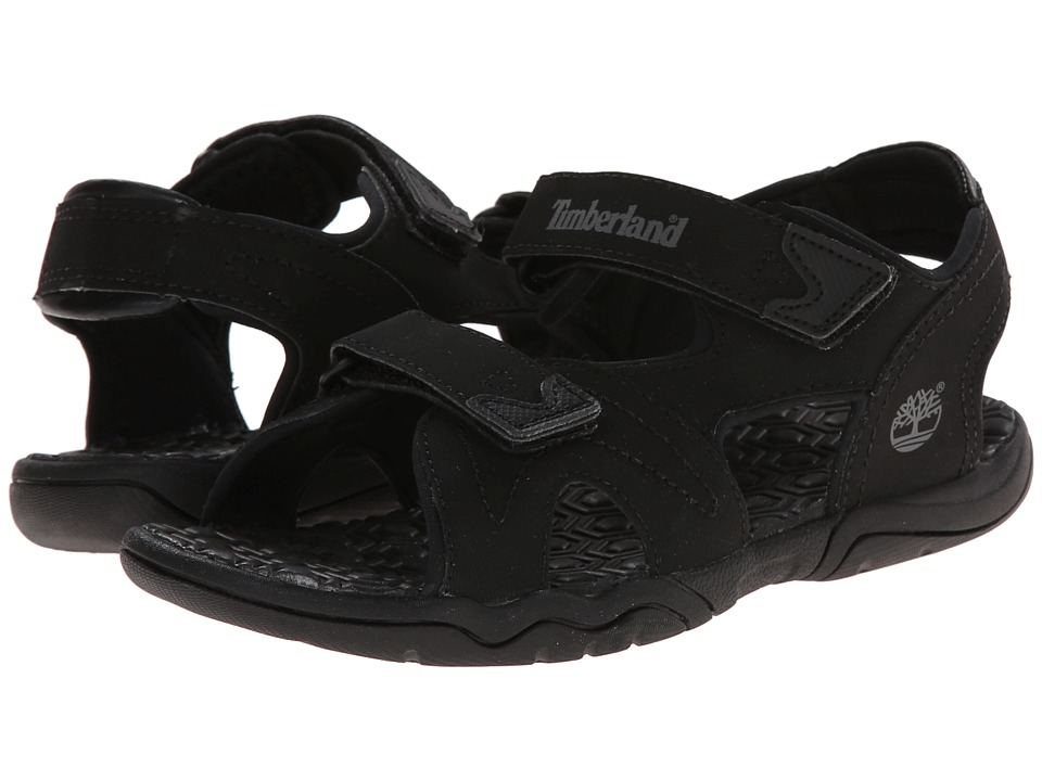 Timberland Kids - Adventure Seeker 2-Strap Sandal (Big Kid) (Blackout) Boys Shoes