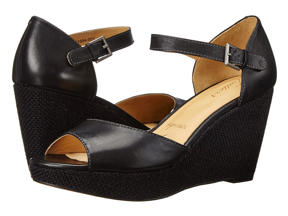 Trotters Amber (Black Soft Dull Leather) Women