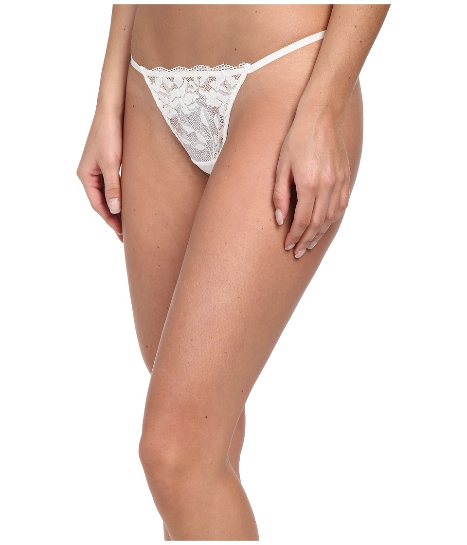 Betsey Johnson - Starlet Lace Thong (Pearl) Women's Underwear