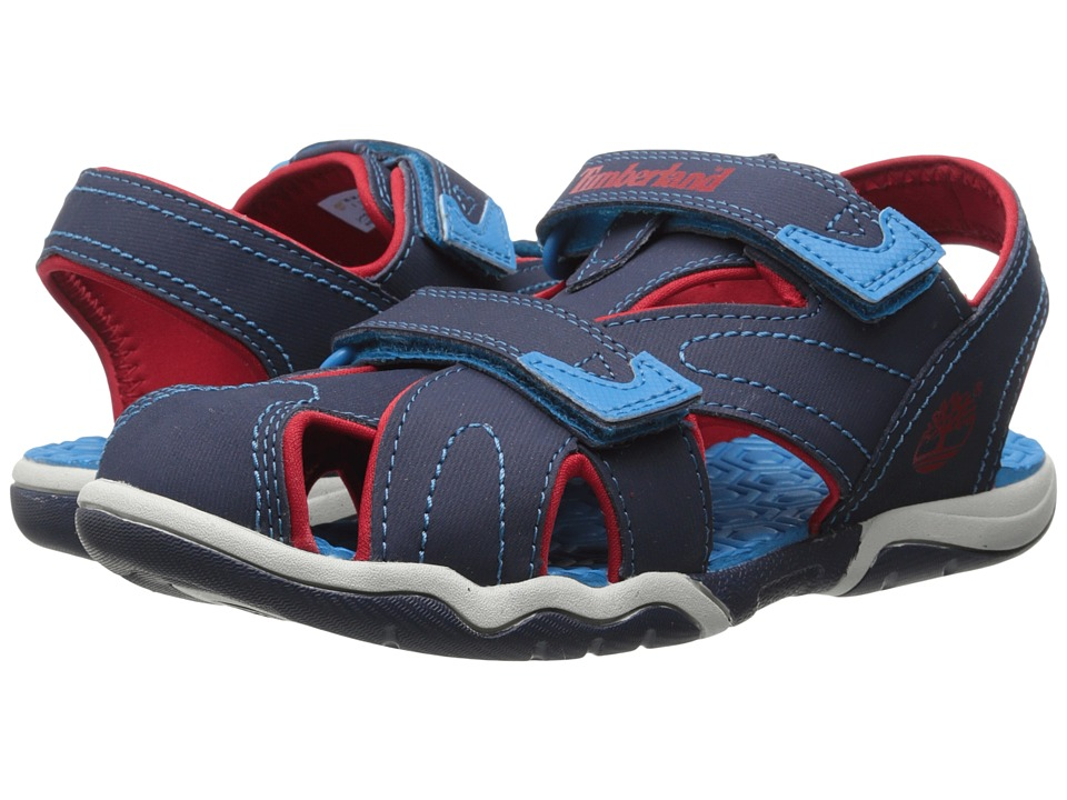 Timberland Kids - Adventure Seeker Closed Toe Sandal (Toddler/Little Kid) (Navy/Red/Blue) Boys Shoes