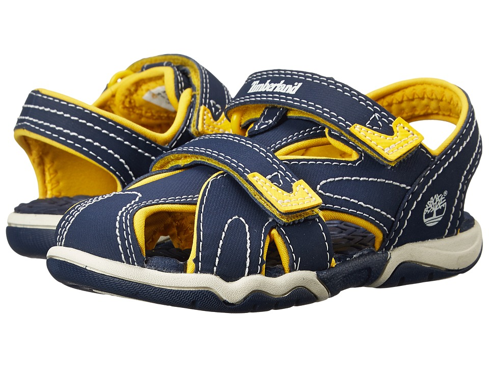 Timberland Kids - Adventure Seeker Closed Toe Sandal (Toddler/Little Kid) (Navy/Yellow) Boys Shoes