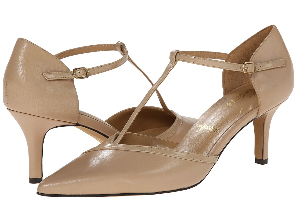 Trotters - Amelia (Nude Glazed Kid Leather/Soft Patent Leather) High Heels