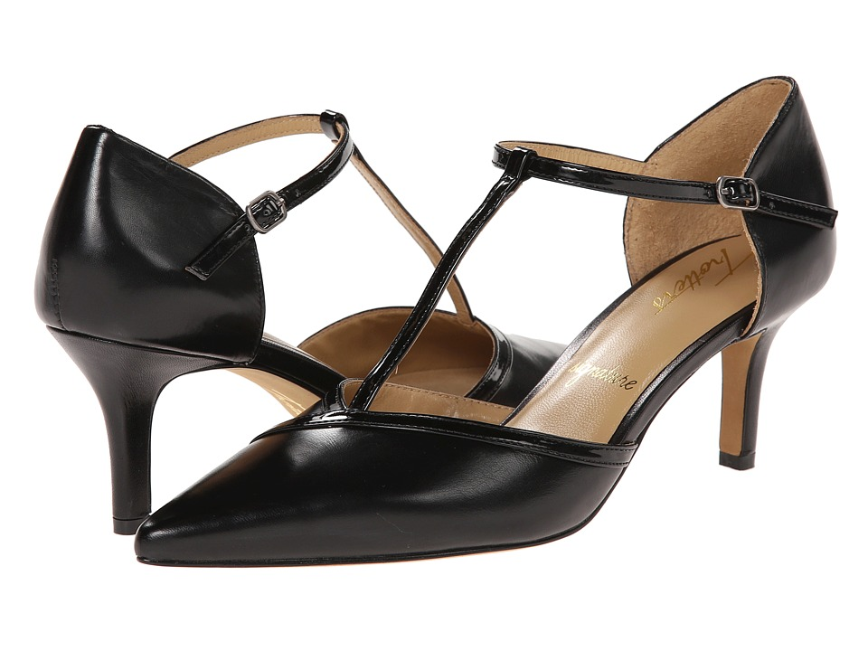 Trotters - Amelia (Black Glazed Kid Leather/Soft Patent Leather) High Heels