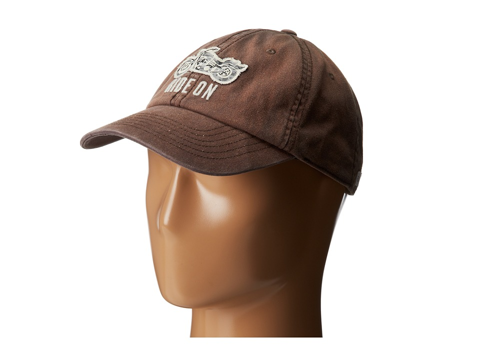 Life is good - Rough Wash Cap (Dark Brown) Baseball Caps