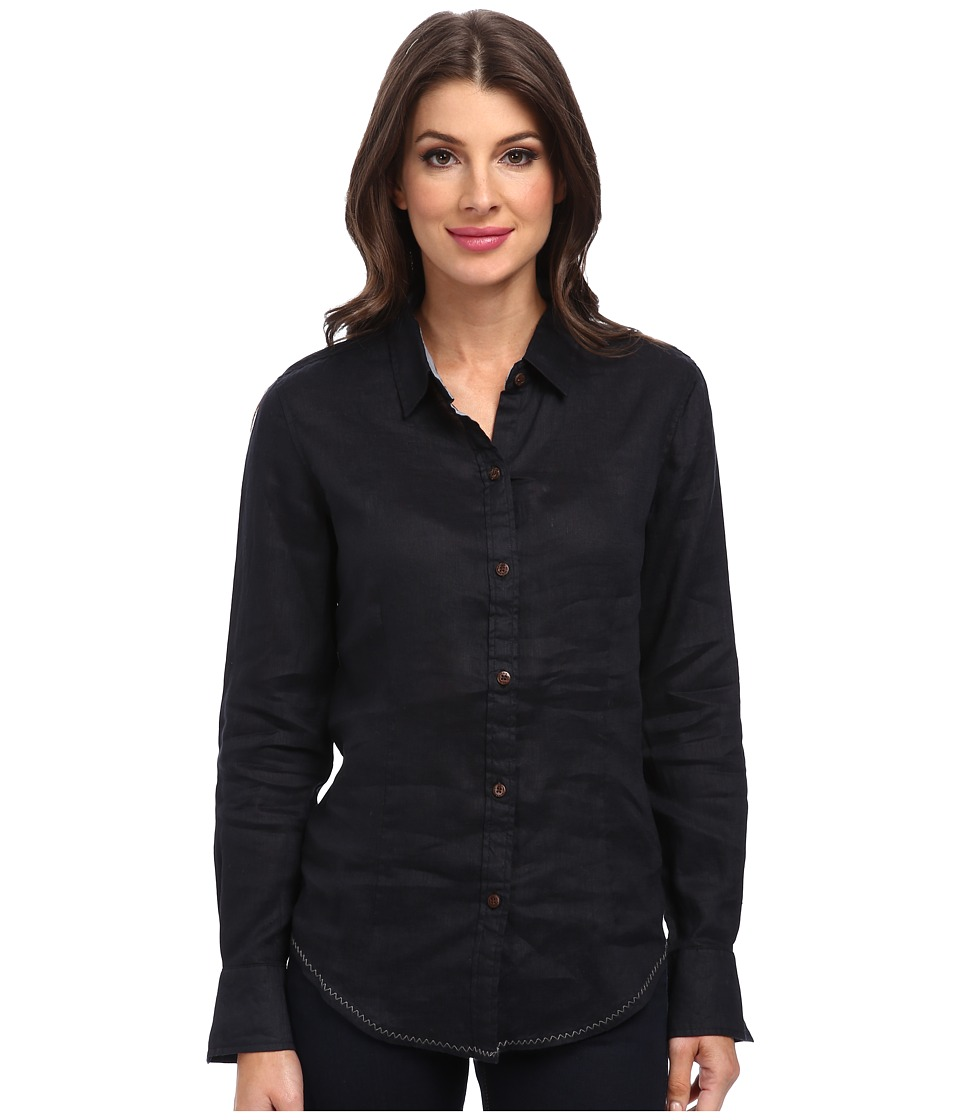 Margaritaville - Long Sleeve Solid Shirt (Black) Women's Long Sleeve Pullover