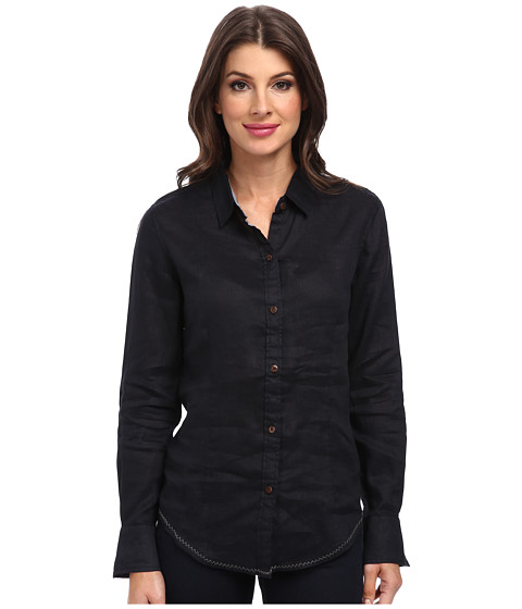 Margaritaville - Long Sleeve Solid Shirt (Black) Women