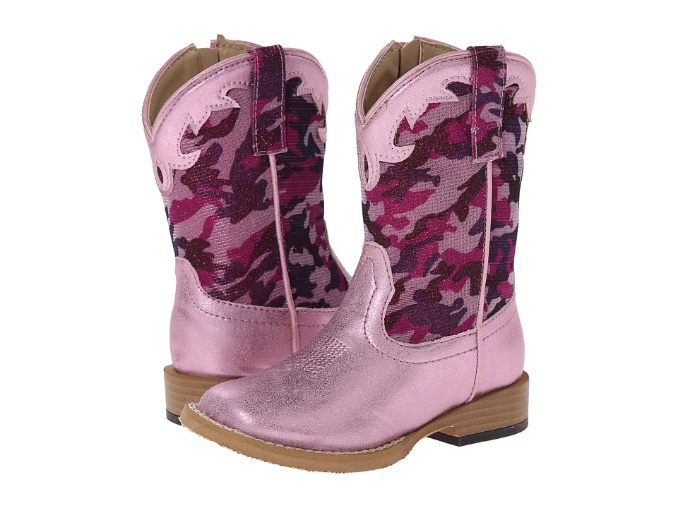 Roper Kids - Square Toe Girlie Camo (Toddler) (Pink) Cowboy Boots