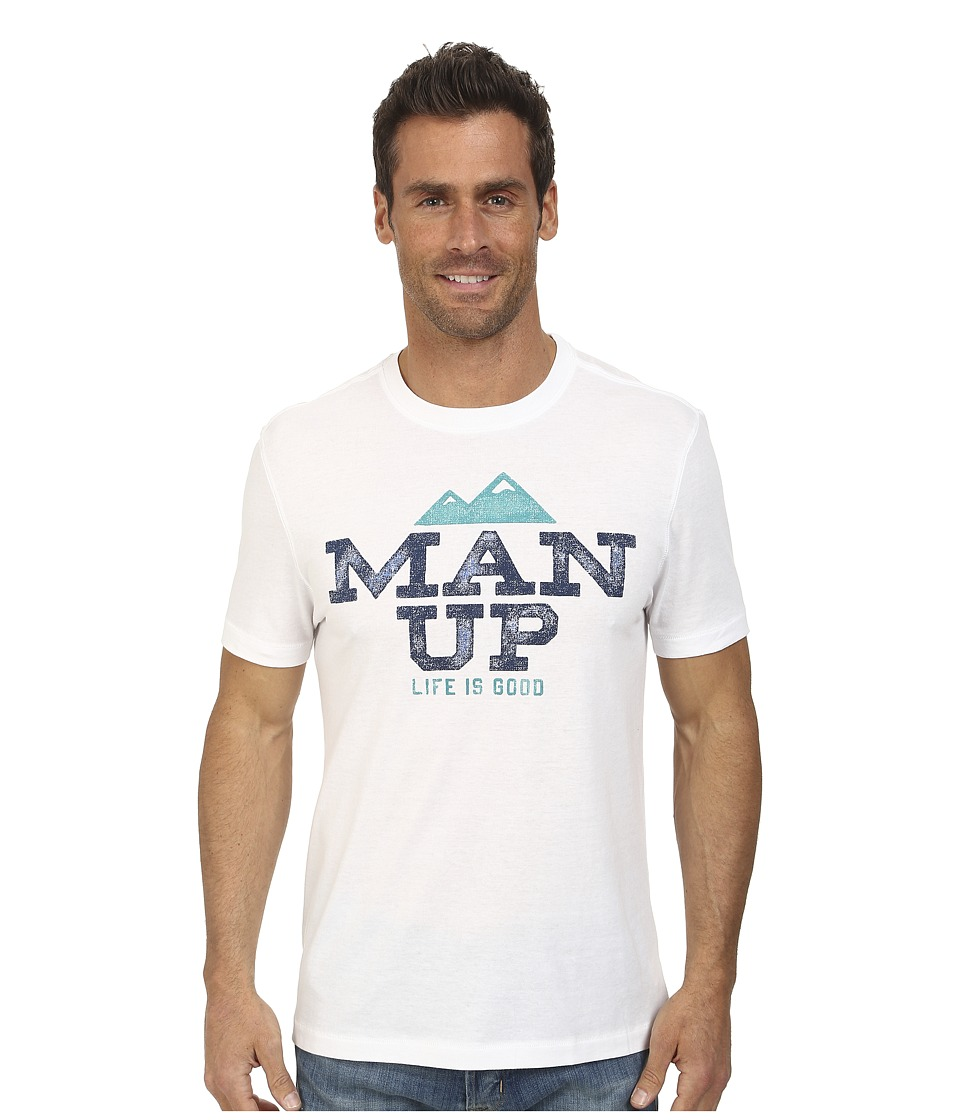 Life is good - Cool Tee (Cloud White 2) Men's Short Sleeve Pullover