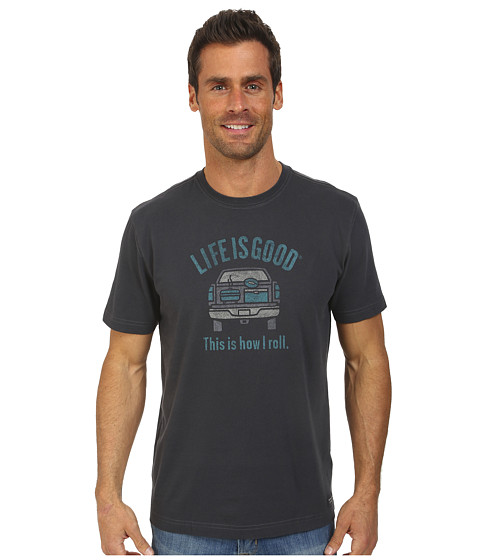 Life is good - How I Roll Tailgate Crusher Tee (Night Black) Men's T Shirt