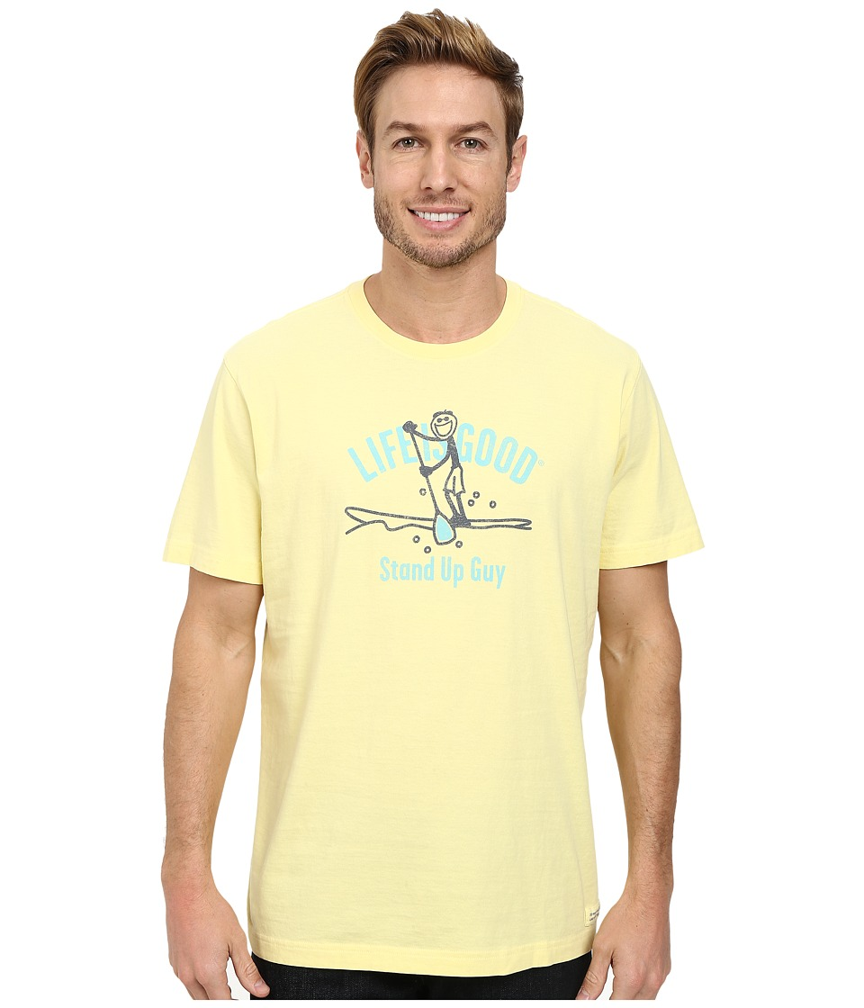 Life is good - Stand Up Paddler Crusher Tee (Lemony Yellow) Men's T Shirt