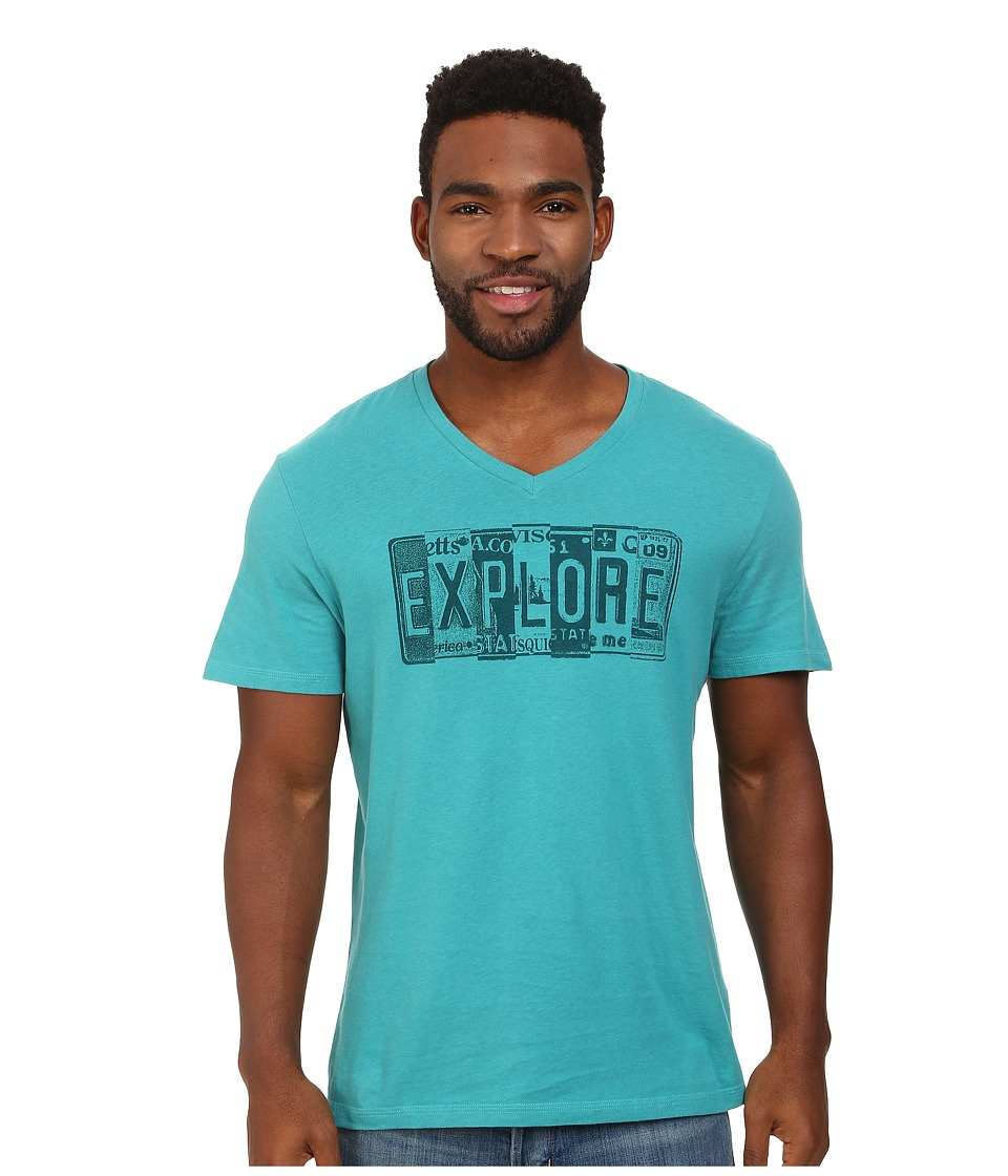 Life is good - Creamy Vee (Teal Blue) Men