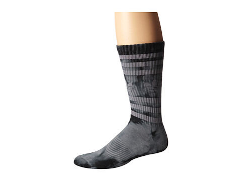 adidas - Original Tie Dye Heritage Crew (Grey/Black Tie Dye) Men's Crew Cut Socks Shoes