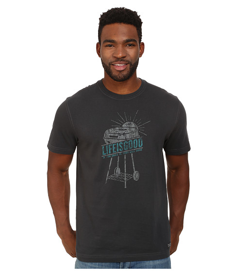 Life is good - If You Grill LIG Crusher Tee (Night Black) Men