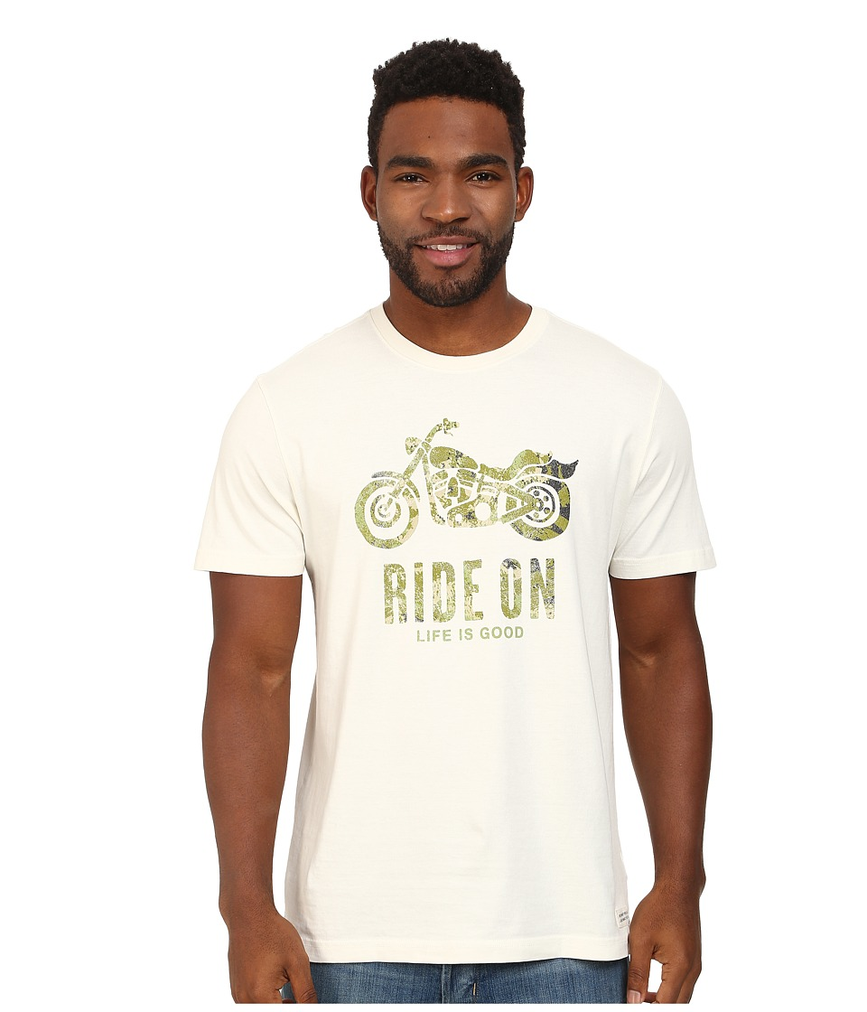 Life is good - Camo Ride On Crusher Tee (Simply Ivory) Men