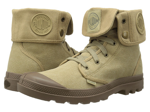 Palladium - Baggy (Stonewashed Dark Khaki/Khaki) Men's Lace-up Boots