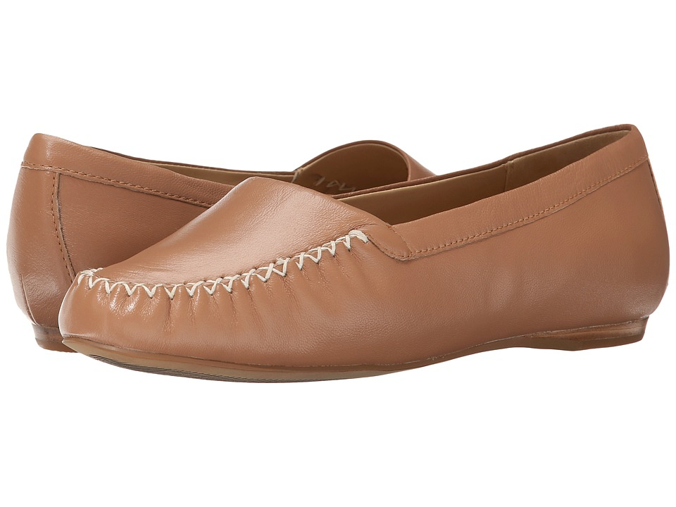Trotters - Mila (Tan Soft Nappa Leather) Women's Slip on Shoes