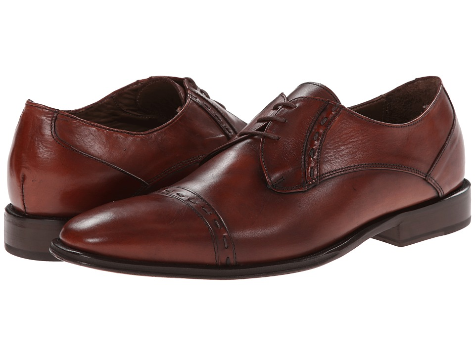 Messico - Oslo (Cognac Leather) Men's Dress Flat Shoes