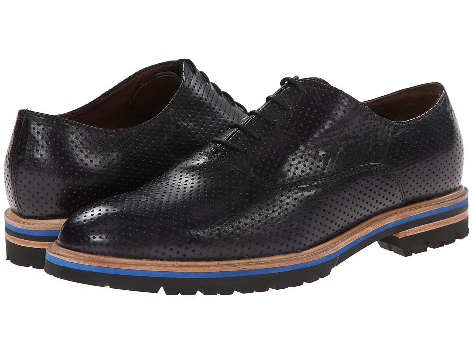 Messico - York (Black Leather) Men's Dress Flat Shoes